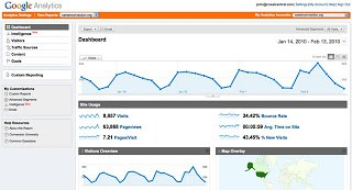 google analytics dashboard visits
