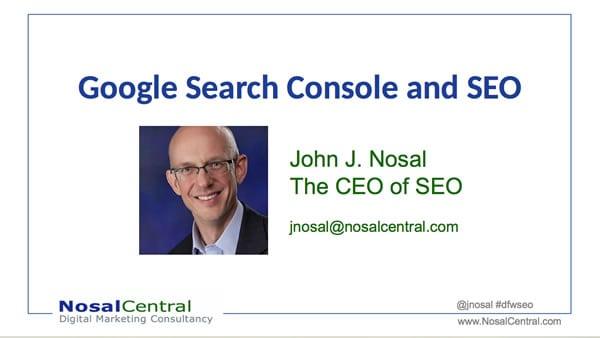 The New Google Search Console presentation
